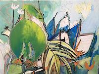 Gisela-Guenther-Pflanzen-Fantasie-Moderne-Abstrakte-Kunst-Informel