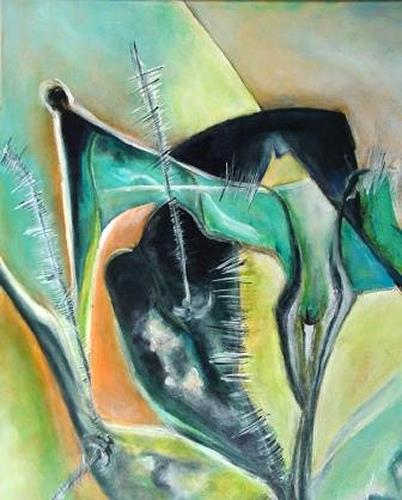 Gisela Günther, ohne Titel, Abstraktes, Bewegung, Informel