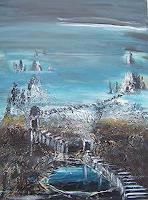 mimik-Abstraktes-Landschaft-Berge-Gegenwartskunst--Land-Art