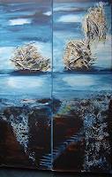 mimik-Abstraktes-Landschaft-See-Meer-Gegenwartskunst--Land-Art