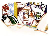 Kass Meridian, Monica Nude With Cezanne