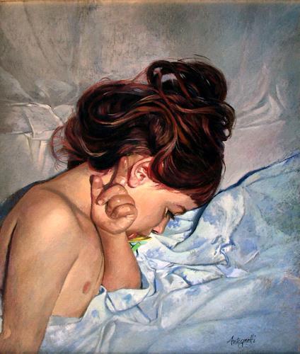 Lorenzo Antognetti, '' Althea '' di Lorenzo Antognetti, Menschen: Porträt, Realismus, Expressionismus