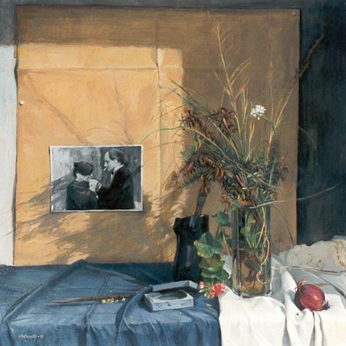 Lorenzo Antognetti, '' Matilde e Lorenzo ''  di L orenzo Antognetti, Menschen: Familie, Realismus, Expressionismus