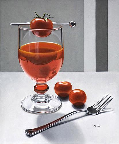 Kerstin Arnold, Red Energy, Essen, Stilleben, Realismus, Expressionismus