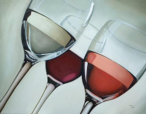 Kerstin Arnold, Colours of Wine, Stilleben, Essen, Realismus