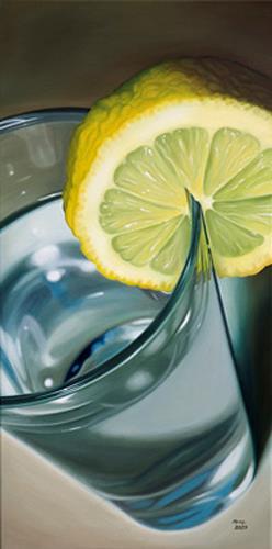 Kerstin Arnold, Aqua-Lemon, Stilleben, Essen, Realismus, Expressionismus