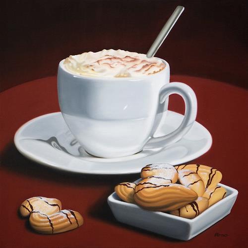 Kerstin Arnold, Coffeetime, Stilleben, Essen, Realismus, Expressionismus