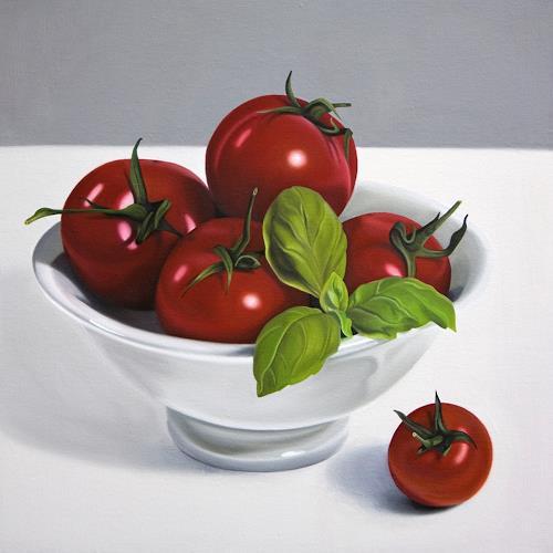 Kerstin Arnold, Pomodori, Essen, Stilleben, Realismus, Expressionismus
