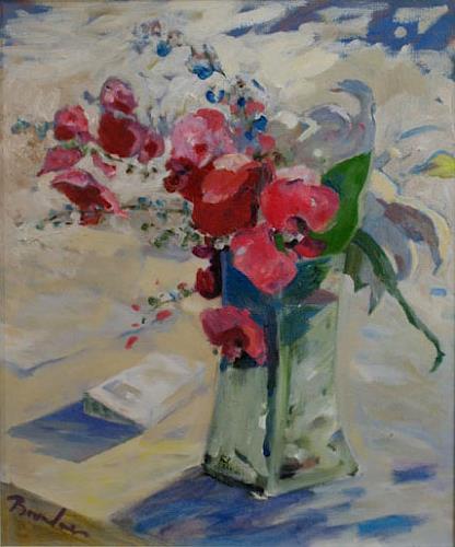 Franz Brandner, Orchideen, Pflanzen: Blumen, Natur: Diverse, Postimpressionismus