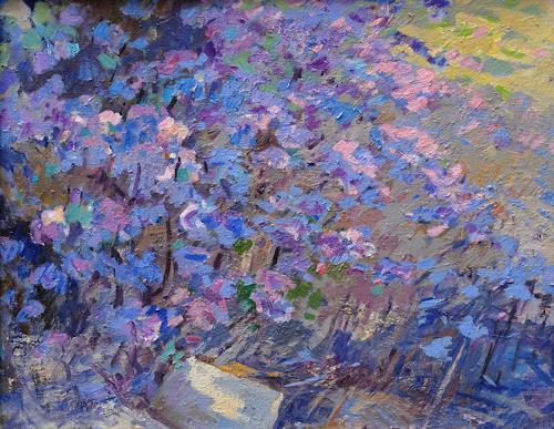 Franz Brandner, Azalea, Landschaft: Frühling, Pflanzen: Blumen, Postimpressionismus