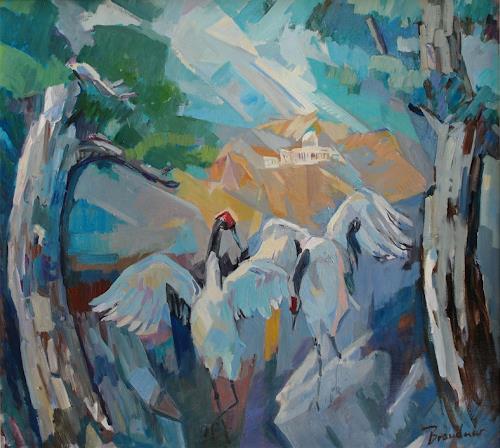 Franz Brandner, Foundation Day, Landschaft: Berge, Diverse Landschaften, Neo-Expressionismus