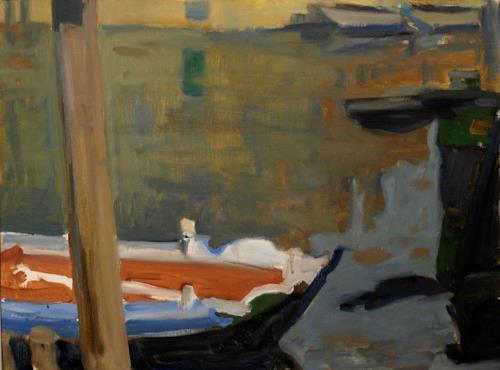 Franz Brandner, Chioggia, Natur: Wasser, Diverse Landschaften, Fauvismus, Expressionismus