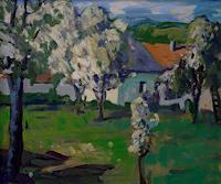 Franz-Brandner-Natur-Diverse-Landschaft-Fruehling-Moderne-Expressionismus-Fauvismus