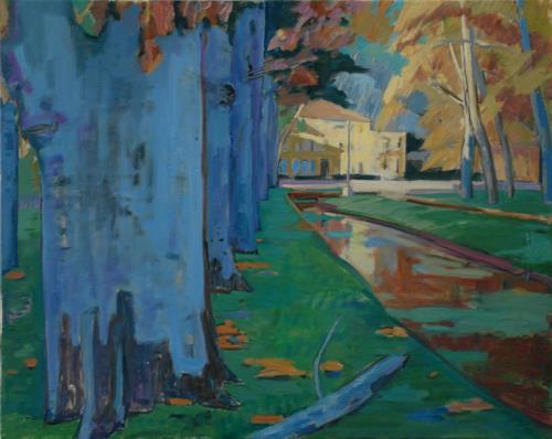 Franz Brandner, Provence, Natur: Diverse, Landschaft: Herbst, Fauvismus, Abstrakter Expressionismus