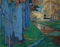 Franz-Brandner-Natur-Diverse-Landschaft-Herbst-Moderne-Expressionismus-Fauvismus