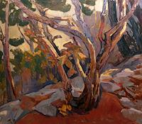 Franz-Brandner-Landschaft-Herbst-Natur-Wald-Moderne-Impressionismus-Postimpressionismus
