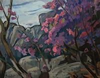 Franz-Brandner-Natur-Gestein-Pflanzen-Blumen-Moderne-Expressionismus-Fauvismus