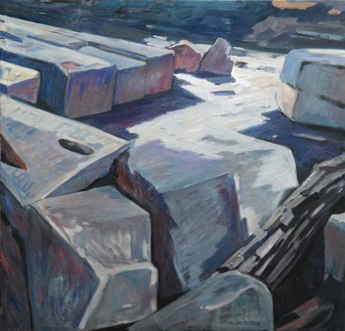 Franz Brandner, Rocks in the mountain, Landschaft, Natur: Gestein, Fauvismus, Expressionismus