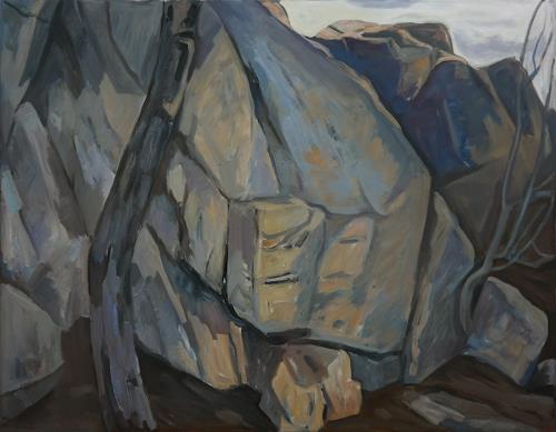 Franz Brandner, Felsen2, Landschaft: Berge, Natur: Gestein, Fauvismus, Expressionismus