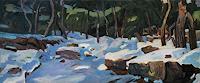 F. Brandner, Schnee im Wald