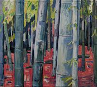 Franz-Brandner-Natur-Wald-Pflanzen-Baeume-Moderne-Expressionismus-Fauvismus