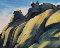 Franz-Brandner-Landschaft-Berge-Natur-Gestein-Moderne-Expressionismus-Neo-Expressionismus