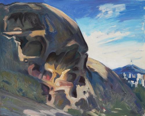 Franz Brandner, skull rock, Landschaft: Berge, Natur: Gestein, Neo-Expressionismus