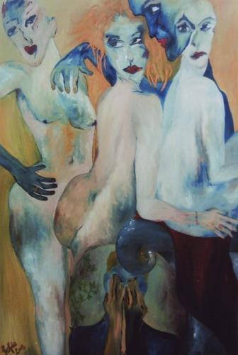 Sofia Schuck, Himmel und Hölle, Menschen: Gruppe, Neo-Expressionismus, Abstrakter Expressionismus