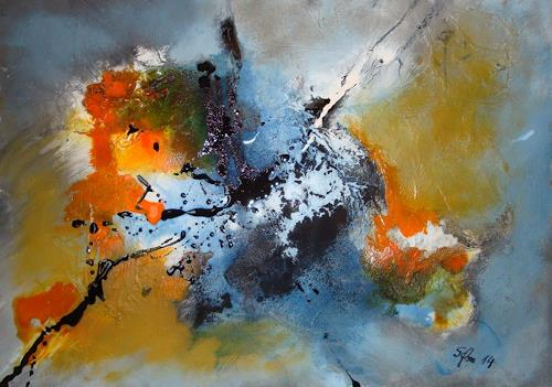 Ingeborg Schnöke, Happy New Year, Abstraktes, Abstrakte Kunst, Expressionismus