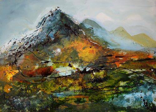 Ingeborg Schnöke, wenn der Tag von den Bergen steigt........, Abstraktes, Expressionismus