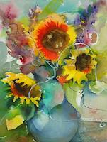 I. Schnöke, Für immer festgehalten......(Sonnenblumen in Vase)