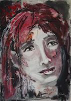 Ingeborg-Schnoeke-Menschen-Frau-Diverse-Gefuehle-Moderne-Abstrakte-Kunst
