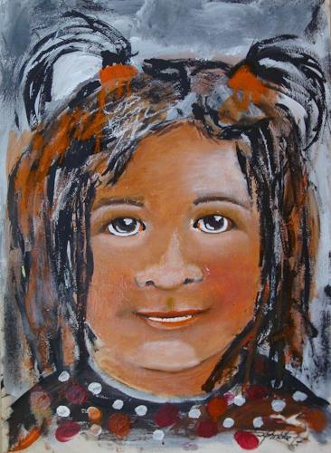 Ingeborg Schnöke, Mädchen, Menschen: Kinder, Abstrakte Kunst