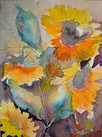 Ingeborg-Schnoeke-Pflanzen-Blumen-Poesie-Moderne-Abstrakte-Kunst