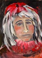 Ingeborg-Schnoeke-Menschen-Gesichter-Abstraktes-Moderne-Abstrakte-Kunst