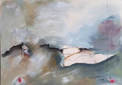 Ingeborg Schnöke, Hinter den sieben Bergen... Diptychon, Diverse Landschaften, Diverses, Abstrakte Kunst, Expressionismus