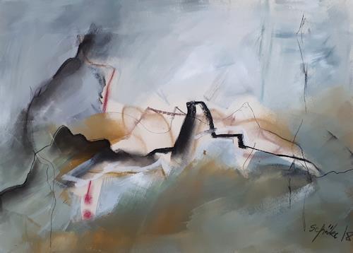 Ingeborg Schnöke, Hinter den sieben Bergen... Diptychon, Diverse Landschaften, Diverses, Abstrakte Kunst, Abstrakter Expressionismus