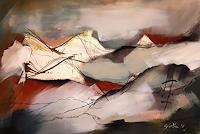 Ingeborg-Schnoeke-Landschaft-Strand-Poesie-Moderne-Abstrakte-Kunst