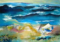 Ingeborg-Schnoeke-Landschaft-See-Meer-Poesie-Moderne-Abstrakte-Kunst