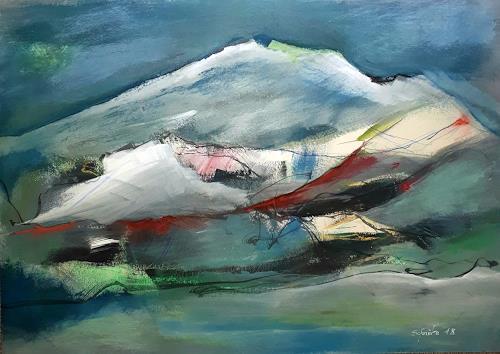 Ingeborg Schnöke, Aufstieg, Landschaft: Berge, Fantasie, Abstrakte Kunst, Expressionismus