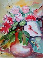 Ingeborg-Schnoeke-Pflanzen-Blumen-Moderne-Abstrakte-Kunst
