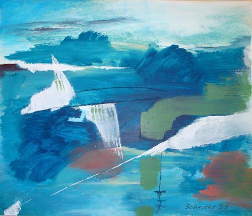 Ingeborg Schnöke, mit dem Winde..., Abstraktes, Abstrakte Kunst