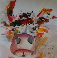 Ingeborg-Schnoeke-Tiere-Land-Abstraktes-Moderne-Abstrakte-Kunst
