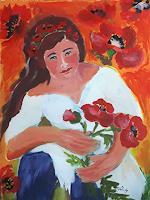 Ingeborg-Schnoeke-Menschen-Frau-Poesie-Moderne-Abstrakte-Kunst