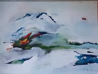 Ingeborg-Schnoeke-Landschaft-Poesie-Moderne-Abstrakte-Kunst