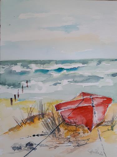 Ingeborg Schnöke, Fernweh, Landschaft, Abstrakte Kunst, Expressionismus