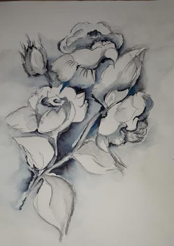 Ingeborg Schnöke, O.T., Pflanzen, Abstrakte Kunst