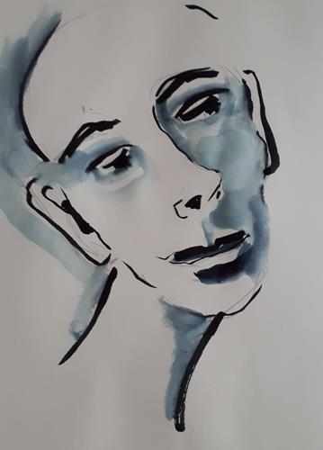 Ingeborg Schnöke, O.T., Menschen: Gesichter, Abstrakte Kunst, Abstrakter Expressionismus