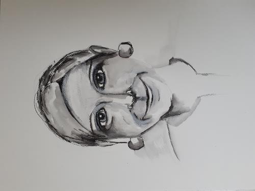 Ingeborg Schnöke, O.T., Menschen: Gesichter, Abstrakte Kunst