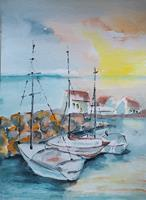 Ingeborg-Schnoeke-Landschaft-See-Meer-Moderne-Abstrakte-Kunst